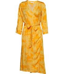2nd jessa pixels jurk knielengte geel 2ndday