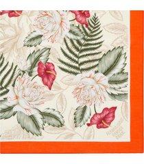 gucci hawaiian floral-print scarf - white