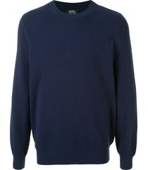 a.p.c. wire long-sleeved pullover - blue