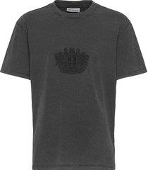 boxy tee t-shirts short-sleeved grijs han kjøbenhavn