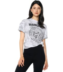 camiseta blanco-gris-negro mng