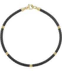 women's lagos gold & black caviar rope bracelet