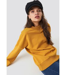 na-kd basic basic oversize sweatshirt - yellow