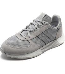 tenis lifestyle gris-blanco adidas originals marathon tech