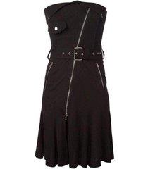runway strapless bustier dress