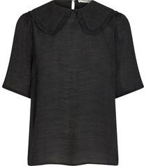 basic blouse verrona  zwart
