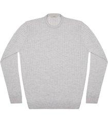 maglione da uomo, lanieri, extra fine grigio chiaro, quattro stagioni | lanieri