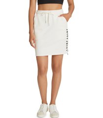 women's juicy couture drawstring waist skirt, size x-small - white