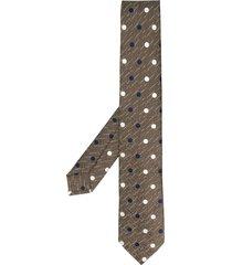 barba embroidered tie - neutrals