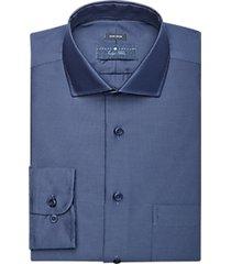 joseph abboud indigo blue woven dress shirt blue dot