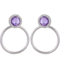 t tahari women's winter bloom door knocker post earring