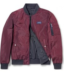 chaqueta bomber reversible rojo ferouch