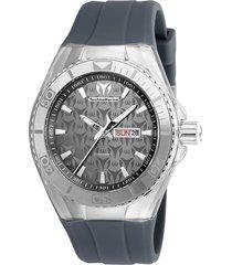reloj technomarine tm-1150ra gris silicona