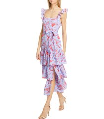 women's likely juno floral tiered ruffle midi dress