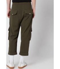 balmain men's jersey cargo pants - khaki - l