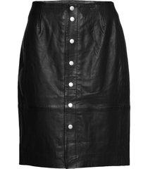 kathiiw skirt knälång kjol svart inwear