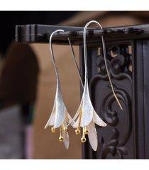 orecchini con pendente fiore in s925 sterling argento