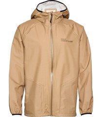 halo light rain jacket regenkleding beige halo