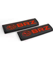 subaru brz seat belt covers leather shoulder pads accessories with emblem