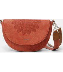 crossbody bag reptile leather-effect - orange - u