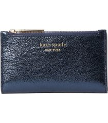 kate spade new york spencer metallic small slim bifold wallet