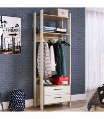 closet 2 gavetas 1 cabideiro cla1002 off white/itapua - completa móveis