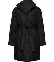 vienna padded coat gevoerde lange jas zwart filippa k