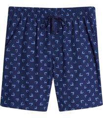pantaloneta descanso barcos color azul, talla s