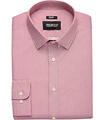 awearness kenneth cole burgundy geometric slim fit dress shirt
