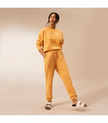 river island womens orange ri studio tie waist joggers