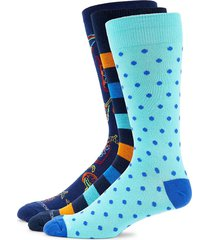 unsimply stitched men's 3-pack dot-print crew socks