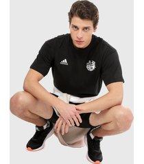 camiseta negro-blanco adidas performance súper campeones