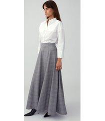grey a line maxi skirt