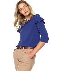 blusa azul tommy hilfiger mazarine
