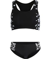 bikini a bustier minimizer (set 2 pezzi) (nero) - bpc bonprix collection