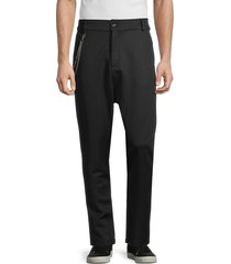 rnt23 men's chained tapered trousers - black - size xl