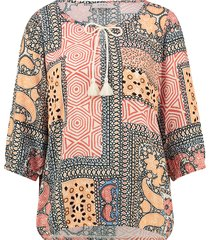 l.o.e.s. 20336 3411 loes polly paisley top coral/off white