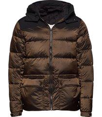 primaloft® down mid-lenght hooded jacket gevoerd jack bruin scotch & soda