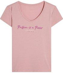 camiseta descanso mujer color rosado, talla l