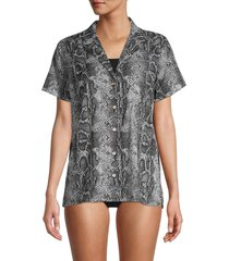 onia women's vacation shirt cover-up - grey - size m