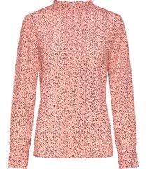 carla blouse blouse lange mouwen roze nué notes