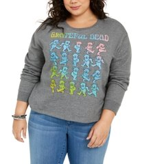 love tribe trendy plus size grateful dead graphic-print sweatshirt