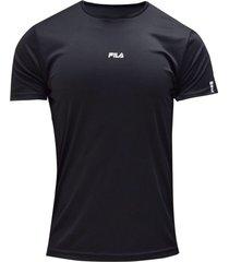 camiseta running fila hombre run advanced tee negro
