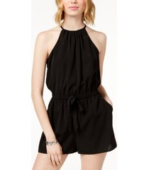 be bop juniors' sleeveless tie-front romper