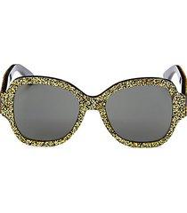 53mm square glitter sunglasses