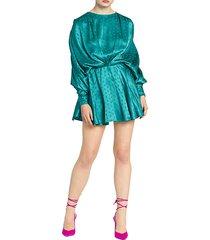 stars jacquard ruched mini dress