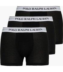 polo ralph lauren classic trunk 3-pack boxershorts black/white