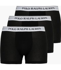 polo ralph lauren classic trunk 3-pack boxershorts black/white