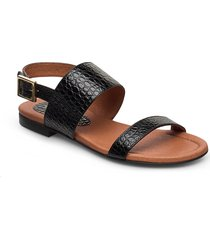 sandals 14010 shoes summer shoes flat sandals svart carla f