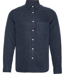comfort tencel slim shirt overhemd casual blauw j. lindeberg